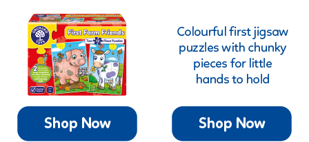 First jigsaws which include chunky, wipe-clean pieces...perfect for little hands!