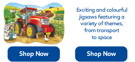 Educational jigsaw puzzles for little hands, with 12 - 25 chunky pieces.