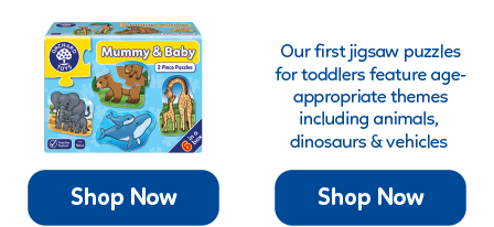 A collection of two and three piece themed first jigsaws in one box. Suitable from age 18 months.