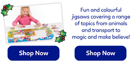 Fun and colourful jigsaws for 2-5 years, covering a wide range of topics from dinosaurs to transport