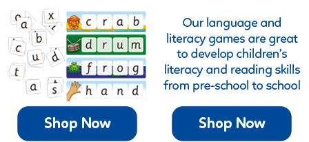 These fun literacy games offer a great way to get children learning their spelling and ABC's.
