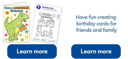 Make your own Orchard Toys birthday card