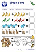 Cheeky Monkeys Simple Sums