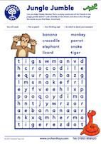 Cheeky Monkeys Wordsearch
