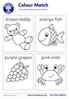 Colour Match Colouring Sheet