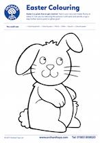 Easter Big Bunny Colouring Sheet
