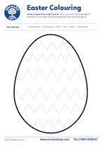 Zig Zag Easter Egg Colouring Sheet