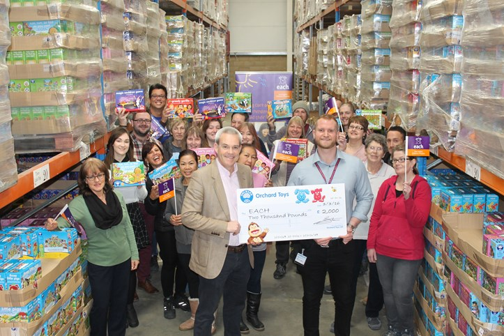 Orchard Toys support EACH charity