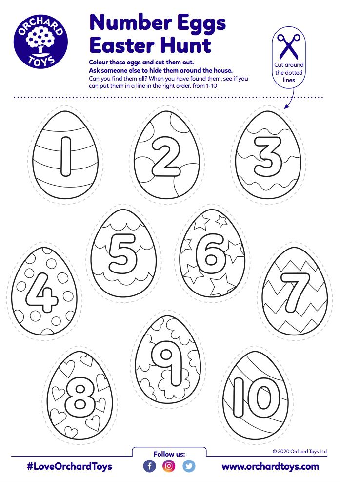 Number Easter Egg Hunt