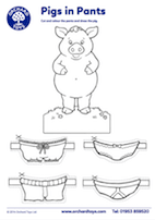Pigs in Pants Activity Sheet