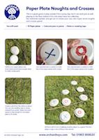 Paper Plates Noughts and Crosses