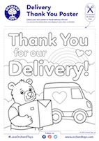 Thank You for Our Delivery Van