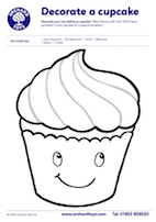 Cupcake Colouring Sheet