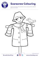 Scarecrow Colouring Sheet