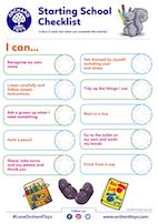 Starting School Activity Sheet