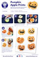 Halloween Apple Faces