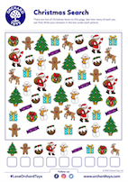 Christmas Search Activity Sheet