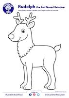Rudolph Colouring Sheet