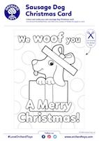 Sausage Dog Xmas Card