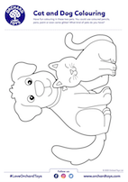 Cat and Dog Colouring