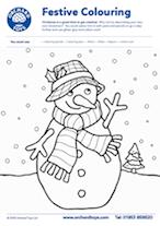 Snowman Colouring Sheet