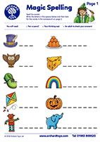 Spelling Activity Sheet
