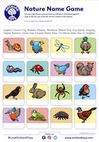 Nature Name Game