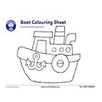 Transport Boat Colouring Sheet