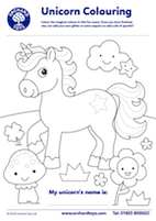 Unicorn Colouring Sheet
