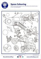 Space Colouring Activity Sheet
