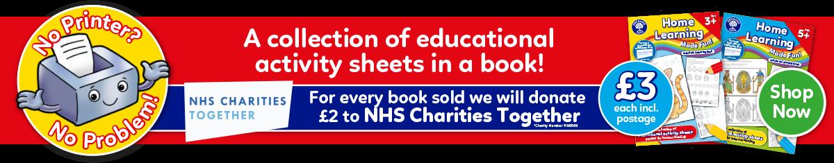 NHS Colouring Books - No Printer No Problem