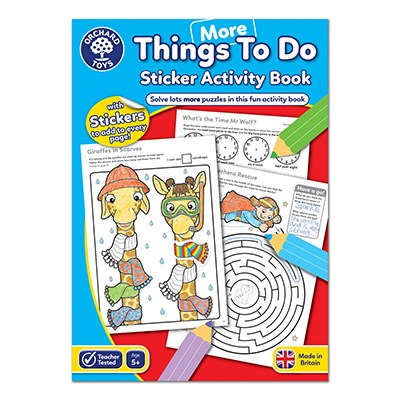 More Things To Do Colouring Book