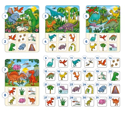 Dinosaur Lotto Game Misplaced Pieces