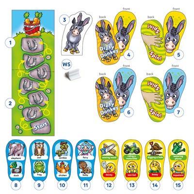 Dizzy Donkey Game Misplaced Pieces