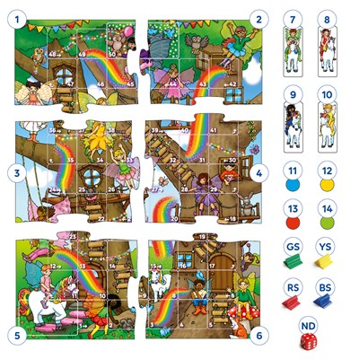 Fairy Snakes & Ladders and Ludo Board Game Misplaced Pieces
