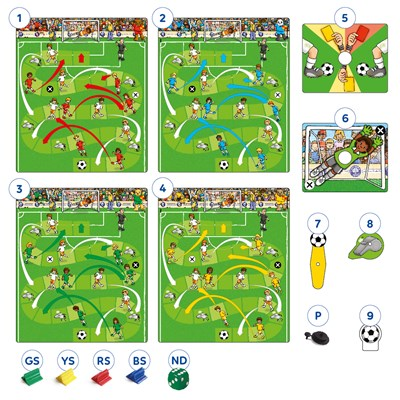 Football Game Misplaced Pieces