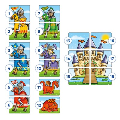 Knights and Dragons Game Misplaced Pieces