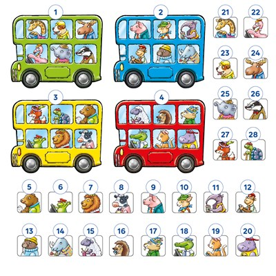 Little Bus Lotto Mini Game Misplaced Pieces