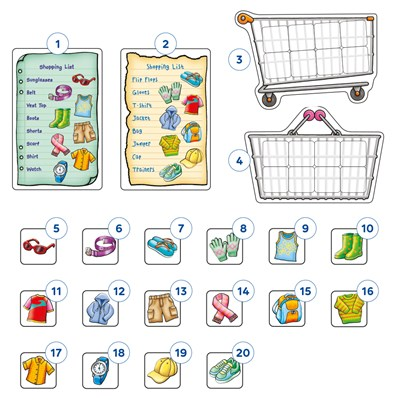 Shopping List Extras - Clothes Misplaced Pieces