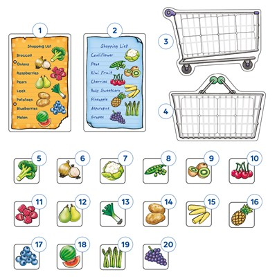 Shopping List Extras - Fruit & Veg Misplaced Pieces