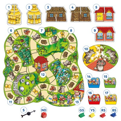 Three Little Pigs Board Game Misplaced Pieces
